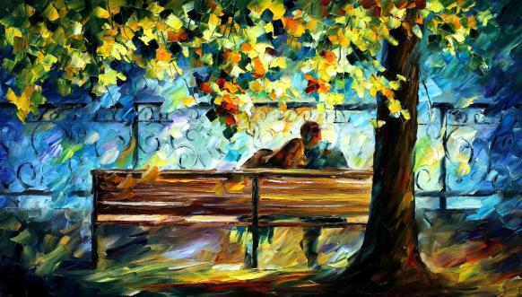 Painting Lovers leonid afremov