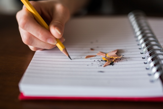 woman writing notebook writer
