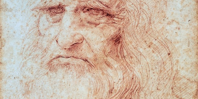 leonardo da vinci self portrait large wide