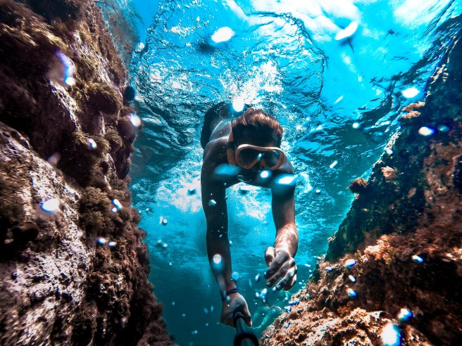 writing is like a exploring underwater