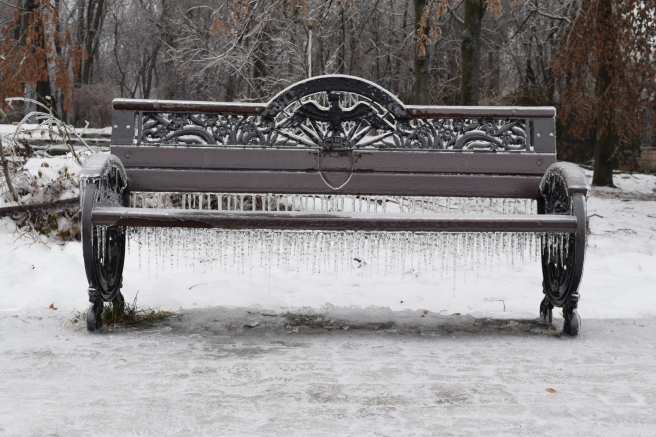 this bench offers no comfort