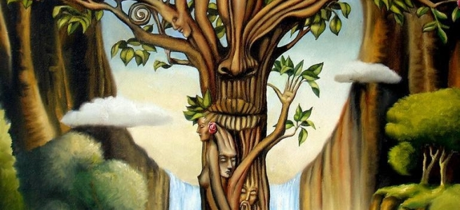 Painting of Tree of Life by Gary Soszynski