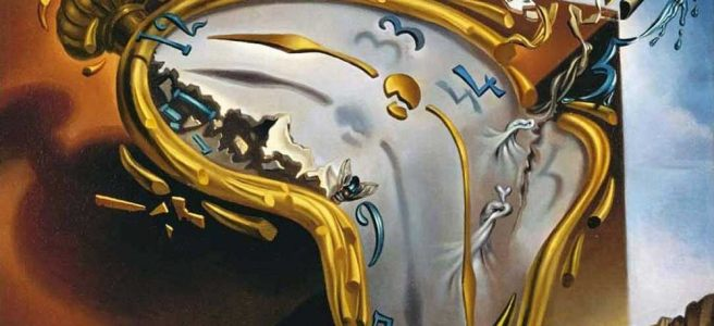 Melting Watch painting by Salvador Dali (1954)
