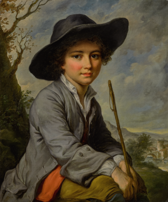 A Young Boy Seated in a Landscape Catherine Lusurier