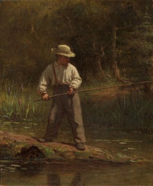 Boy Fishing by Eastman Johnson
