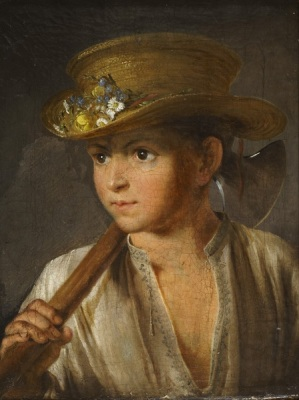 A Peasant Boy with a Hatchet Painting Tropinin V.A.