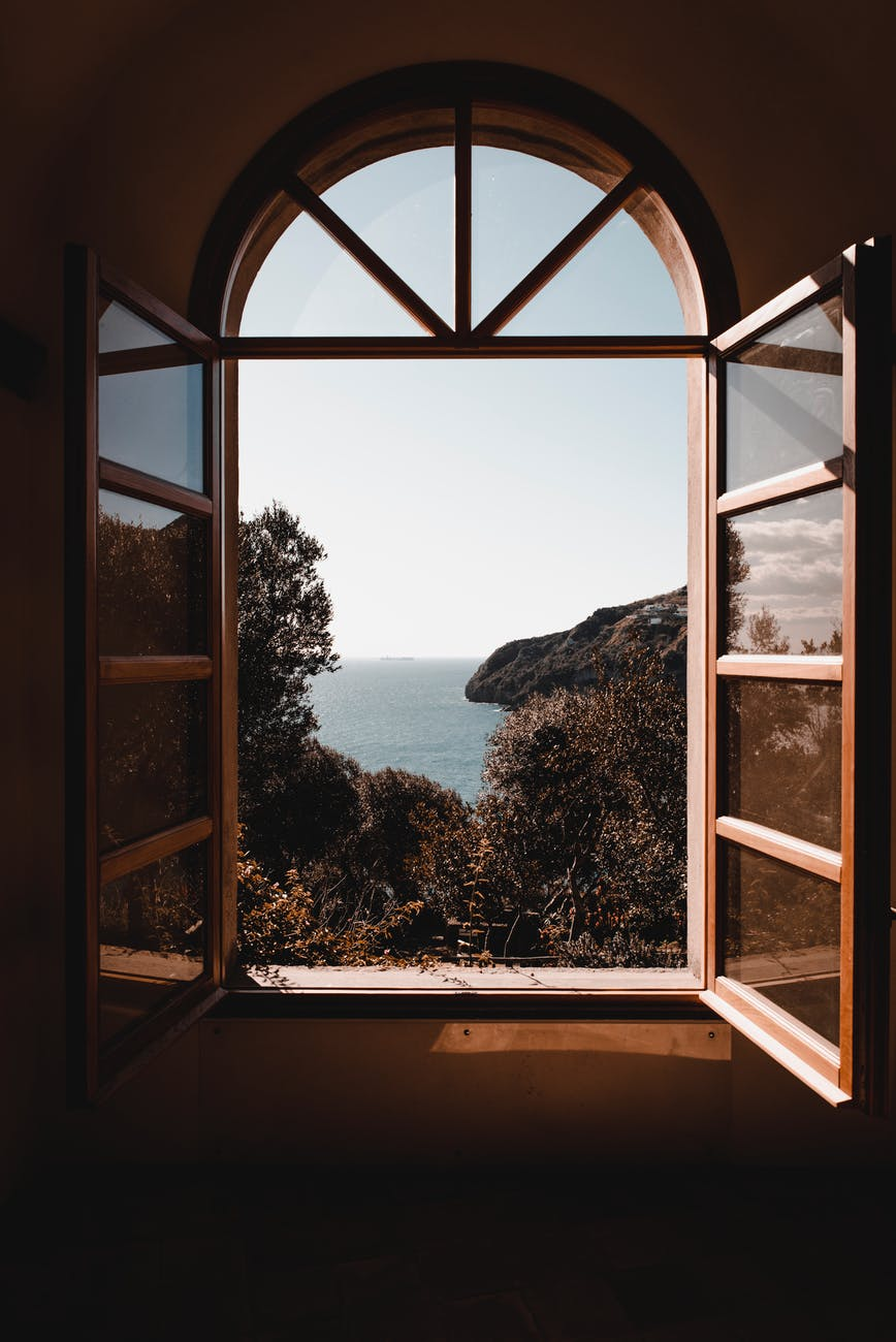 open window sea view what's your blog to you