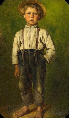 Portrait of a Young Boy Ludwig Knaus