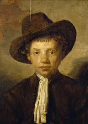Portrait of an Unknown Young Boy in a Hat Carel Fabritius